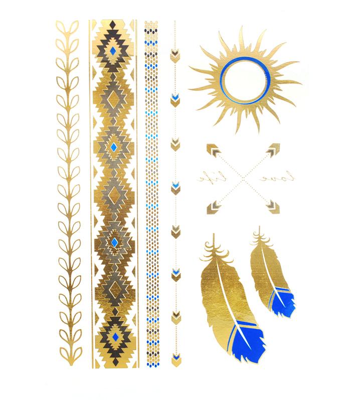 05_golden_tattoo_guldtatuering_bla_idiwa_fjadar_aztec_sol_1_webben