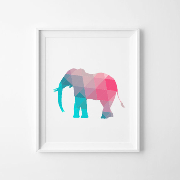 elefant_abstrakt_rosa_turkos_idiwa_poster_canvas-1